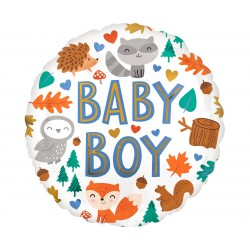 Balon foliowy 18 cali Baby Boy Woodland