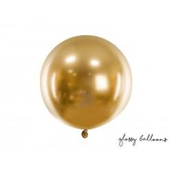 Balon okrągły Glossy 60cm, złoty