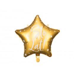 Balon foliowy Sto Lat!, 40cm, złoty