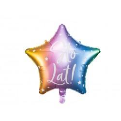 Balon foliowy Sto Lat!, 40cm, kolorowy,