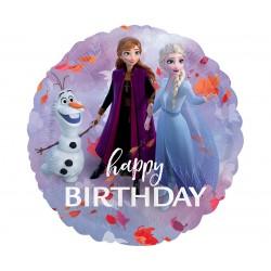 Balon foliowy 18 cali Frozen 2 Happy Birthday