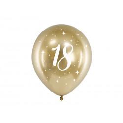 Balony Glossy 30cm, 18, złoty