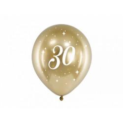 Balony Glossy 30cm, 30, złoty