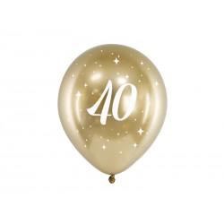 Balony Glossy 30cm, 40, złoty