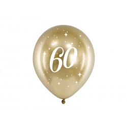 Balony Glossy 30cm, 60, złoty