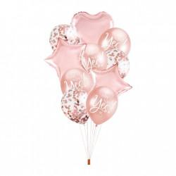Zestaw balonów rose gold...