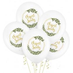Balony na Chrzest Święty 5szt