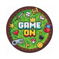 Talerze papierowe GAME ON,...