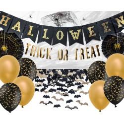 Zestaw Halloween złoto i czerń