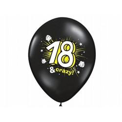 """Balon 14"""" na 18 urodziny, Black&crazy, (1szt)"""