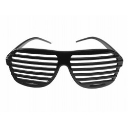 Okulary Żaluzje, czarne 1szt.