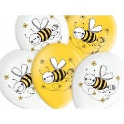 "Balon gumowy 14"" Pszczółki, 1szt."