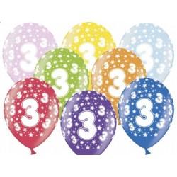 """Balon gumowy 14"""" 3 Urodziny, 1szt."""