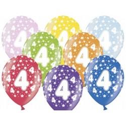 """Balon gumowy 14"""", 4 urodziny 1szt."""