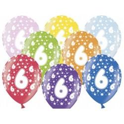 """Balon """"6 Urodziny"""", 1szt."""