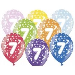 """Balon gumowy 14"""", 7 Urodziny, 1szt."""