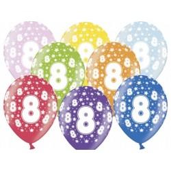 """Balon gumowy 14"""" 8 Urodziny, 1szt."""