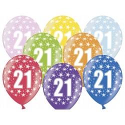 """Balon """"21 Urodziny"""" 1szt."""