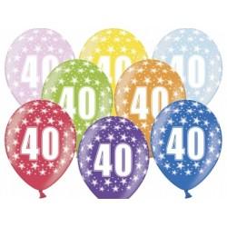 """Balon gumowy 14"""", 40 Urodziny, 1szt."""