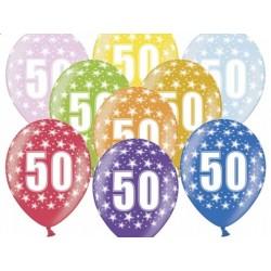 """Balon gumowy 14"""", 50 Urodziny 1szt."""