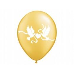 """Balon złoty """"Gołąbki"""" 1szt."""
