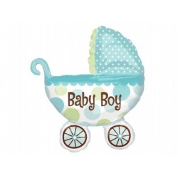"""Balon foliowy 28x31"""" Wózek Baby Boy"""