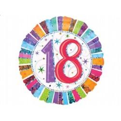 """Balon foliowy 18"""" na 18 Urodziny"""
