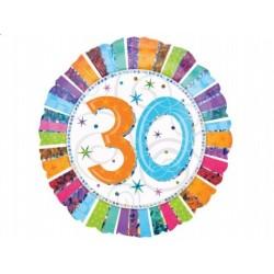 """Balon foliowy 18"""" na 30 Urodziny"""