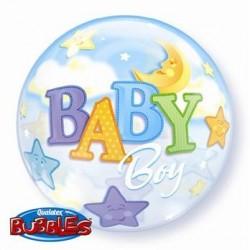 """Balon foliowy 22"""" """"Baby Boy -Księżyc"""""""