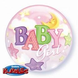 """Balon foliowy 22"""" """"Baby Girl -Księżyc"""""""