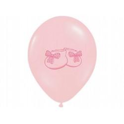 "Balon gumowy 14"" Buciki różowe, 1szt."