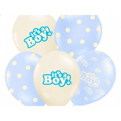 "Balon gumowy 14"", It's a Boy, 1szt."