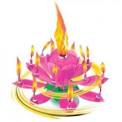 Fontanna Kwiatek wirująco-grający, róż