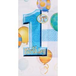 Obrus foliowy ROCZEK niebieski baloniki