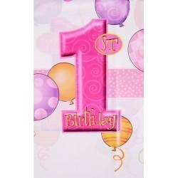 Obrus foliowy ROCZEK, różowy baloniki