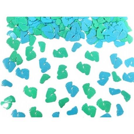 """Konfetti """"Stópki"""" zielone/niebieskie"""