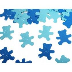 Konfetti Misie, niebieskie/błękitne
