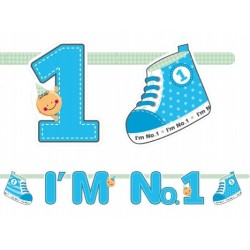 Baner urodzinowy, I'm No. 1, niebieski
