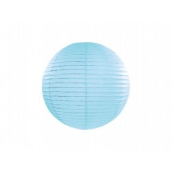 Lampion papierowy 20 cm, błękitny, 1szt
