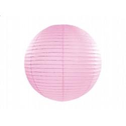 Lampion papierowy 25 cm, j. różowy, 1 szt.