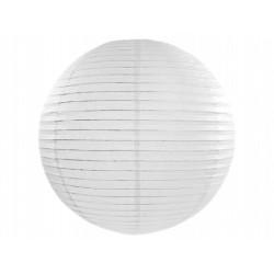 Lampion papierowy 35 cm, biały, 1 szt.