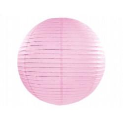 Lampion papierowy 35 cm, j.różowy, 1szt.