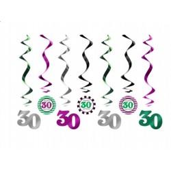 Świderki na 30 urodziny, 7szt.