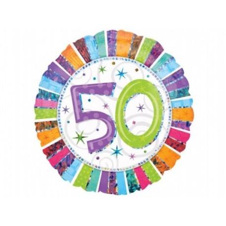 Balon Foliowy 18 Na 50 Te Urodziny Partyszoppl Dekoracje Imprezowe Oraz Stroje Karnawałowe