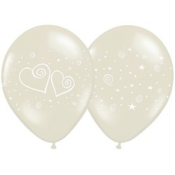 "Balon z nadrukiem ""Serca"", 1szt."