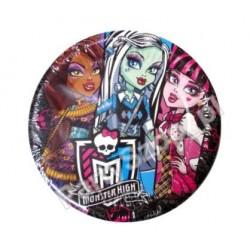 Talerzyki papierowe  Monster High  8 szt.