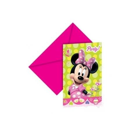 Zaproszenia Myszka Minnie 6szt Partyszoppl Dekoracje