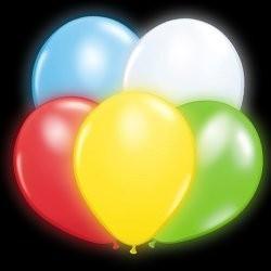 Balony świecące, LED, kolorowe, 1 szt.
