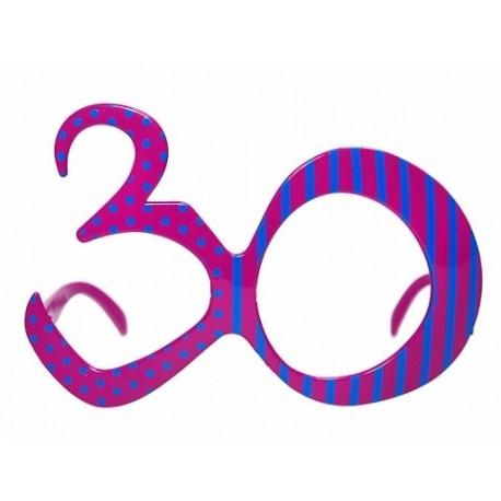 Okulary na 30 urodziny, fuksja