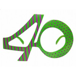 Okulary na 40 urodziny, zielony